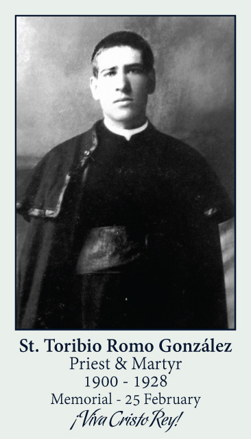 St. Toribio Romo González Prayer Card
