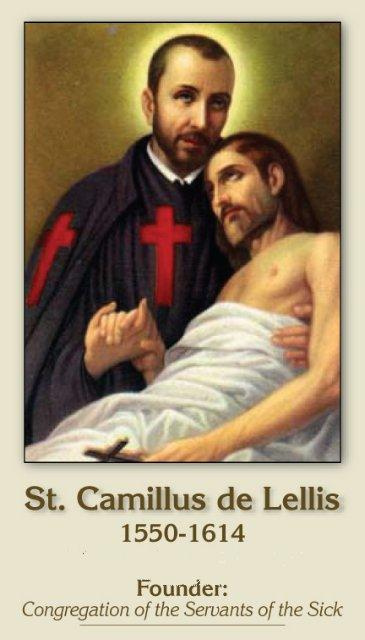 St. Camillus Prayer Card