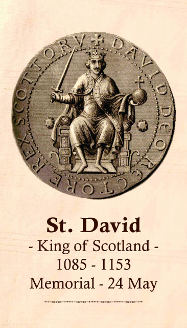 St. David (King of Scotland) Prayer Card