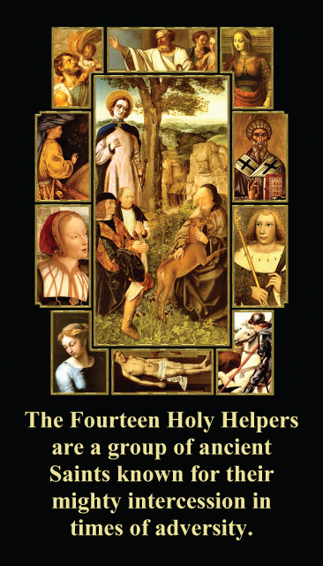 Fourteen Holy Helpers Prayer Card