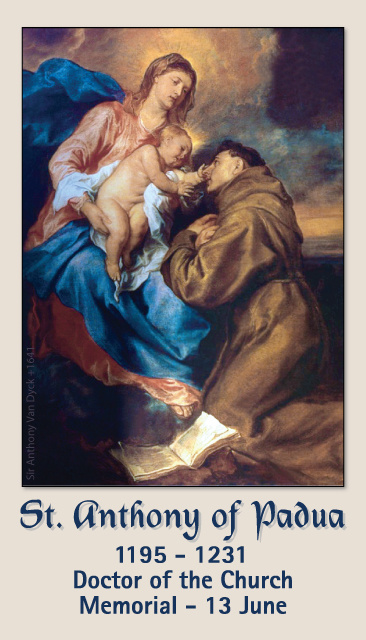 St. Anthony Prayer Card