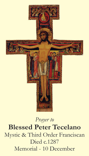 Blessed Peter Tecelano Prayer Card