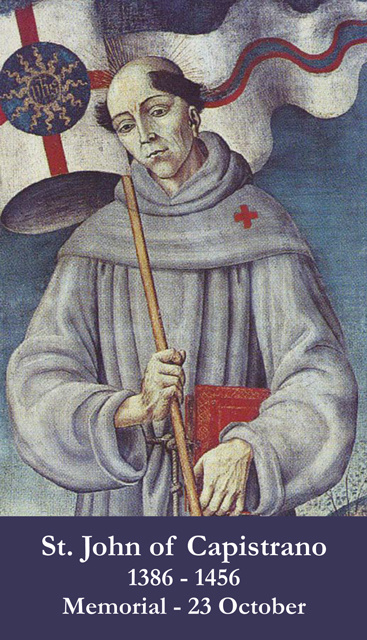St. John of Capistrano Prayer Card