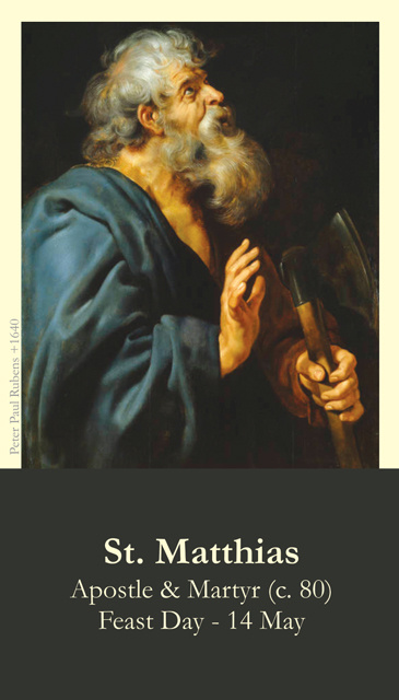 St. Matthias the Apostle Prayer Card