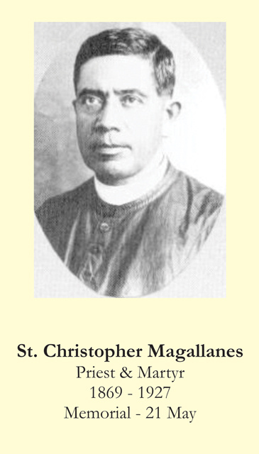 St. Christopher Magallanes Prayer Card