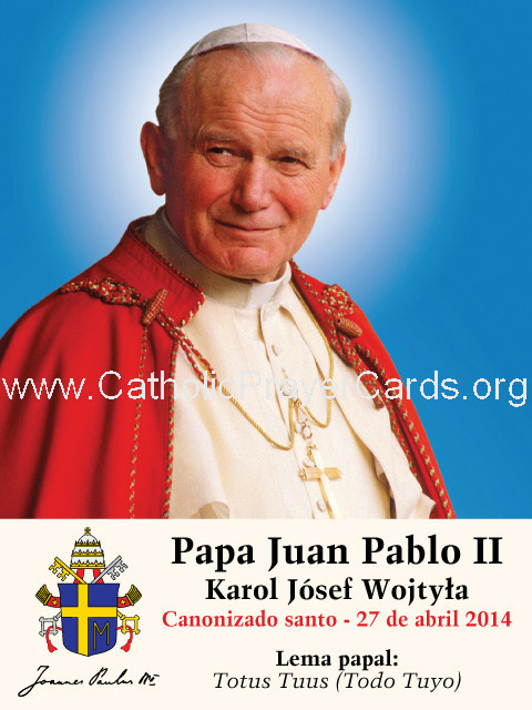 ** SPANISH ** Special Limited Edition Collector's Series Commemorative Pope John Paul II Canonizatio
