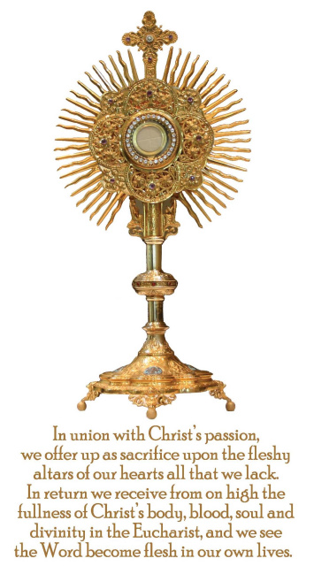 Eucharistic Adoration Prayer Card