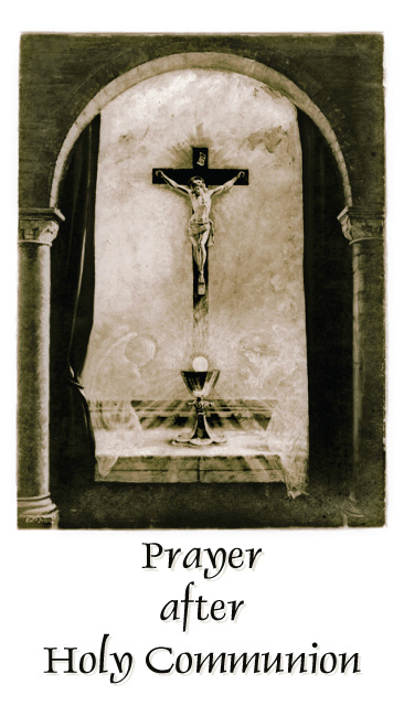 Prayer After Communion Card