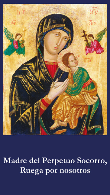 *SPANISH* Mother of Perpetual Help Prayer Card