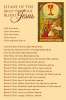 Litany of the Most Precious Blood of Jesus Prayer Card